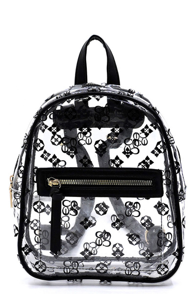 See Thru Monogram Backpack
