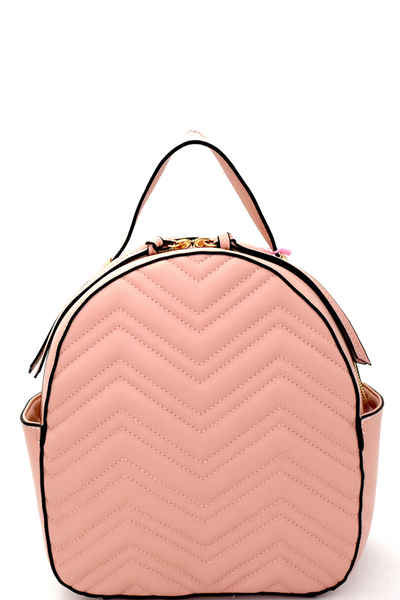 Chevron Pattern Quilted Fashion Backpack