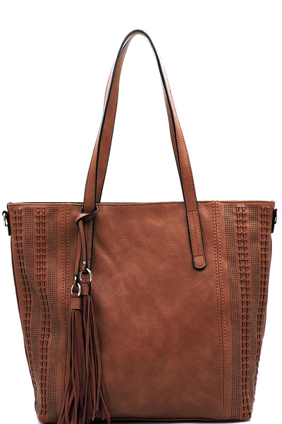 Laser Cut Printed Tassel Shopper