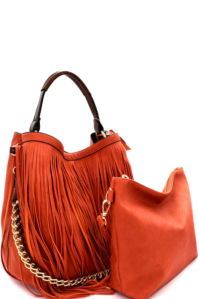 Fringed 2 in 1 Chain Hobo