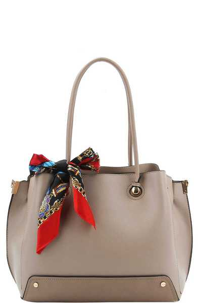 Chic Fashion Scarf Satchel with Long Strap