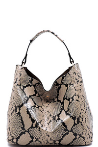 Python Snake Skin 2-in-1 Shoulder Bag