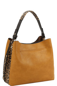 Leopard Multi Compartment Shoulder Bag