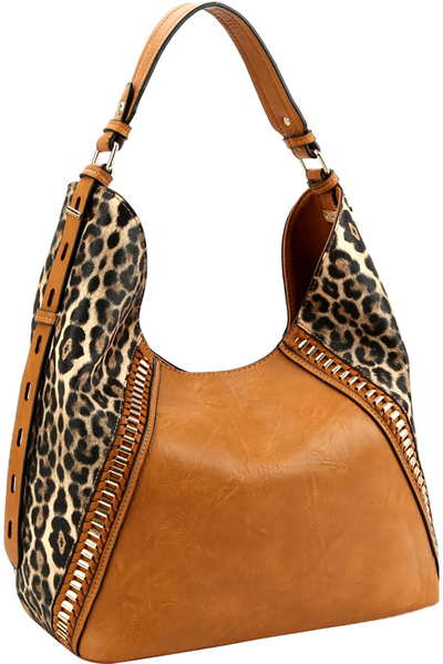 Leopard Print Extendable Single Strap Hobo