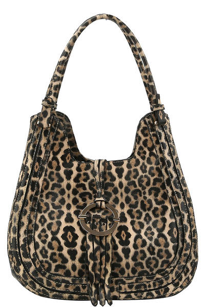 Leopard Ring Flap Shoulder Bag Hobo