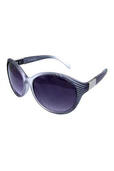 Womens fully rimmed rounded plastic sunglasses