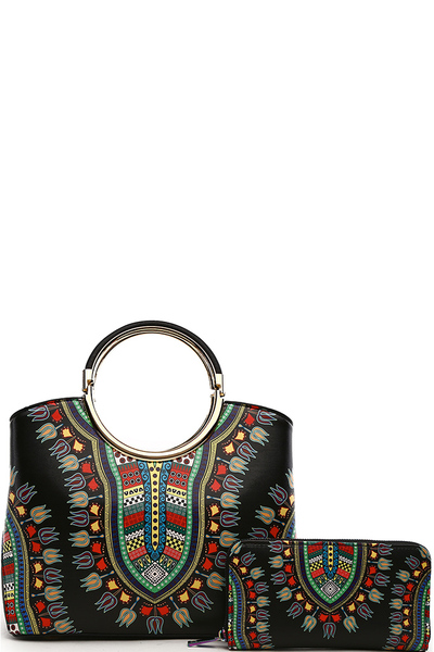 Bohemian Round Top Handle 2-in-1 Satchel