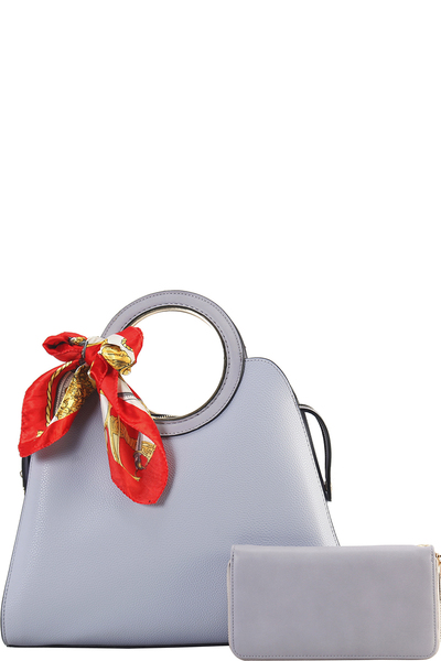 Cute Princess Domed Satchel with Silky Scarf