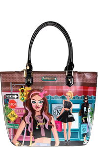NICOLE LEE STYLISH URBAN SHOPPER BAG