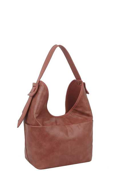 FASHION PLAIN STYLE LEATHER HOBO BAG