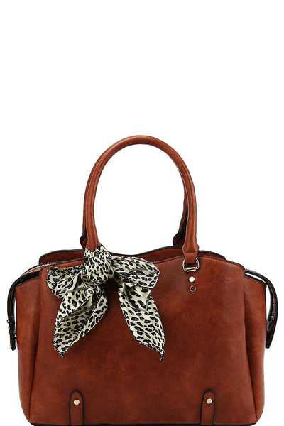 STYLISH TRENDY SCARF SATCHEL WITH LONG STRAP