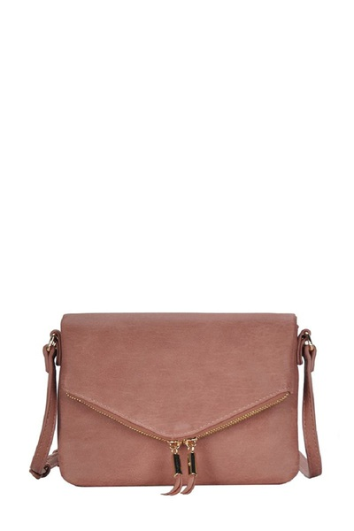 Envelope Zip Flap Shoulder Bag