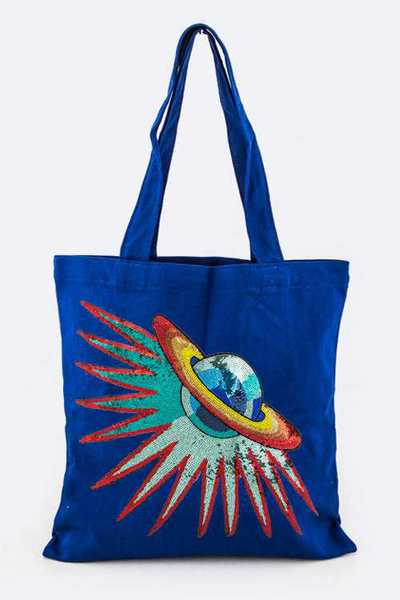 Sequins Planet Fashion Tote