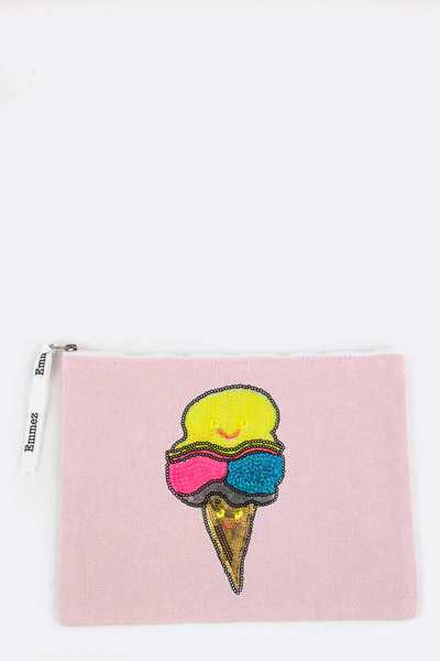 Sequins Ice Cream Cone Pouch