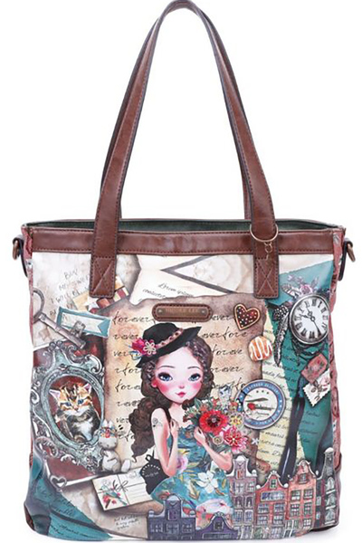 NICOLE LEE VINTAGE STYLISH TOTE BAG