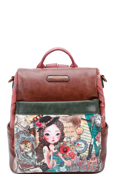 NICOLE LEE VINTAGE STYLISH BACKPACK