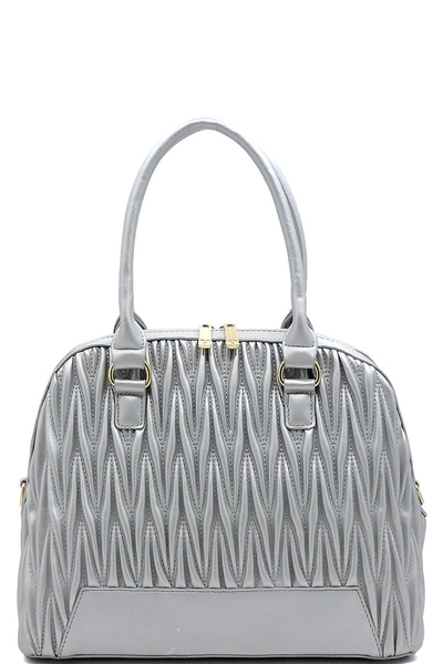 Chevron Quilted Dome Satchel