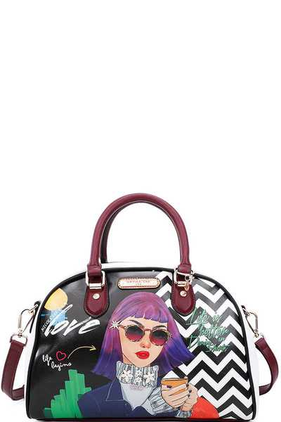 Nicole Lee INSPIRED STYLISH BOWLER BAG