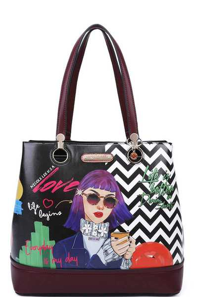 Nicole Lee INSPIRED STYLISH TOTE BAG