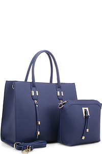 Tassel Accent 2 in 1 Tall Tote Set
