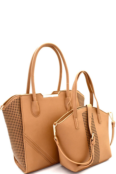 Laser-Cut Accent 2 in 1 Tote Value SET