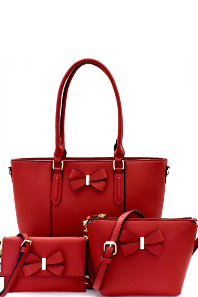 Bow Accent 5 in 1 Tote Value SET
