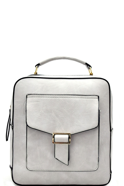 Buckle Accent Fashion Backpack