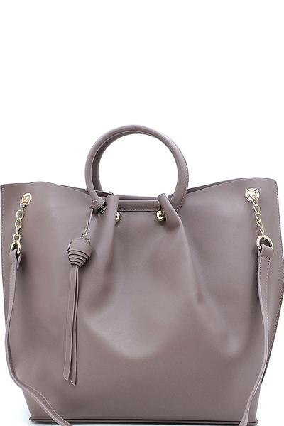 Fashion 2 Way Round Top Handle 3-in-1 Satchel
