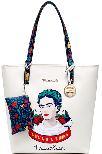 Authentic Frida Kahlo Viva La Vida Tall Shopper Tote