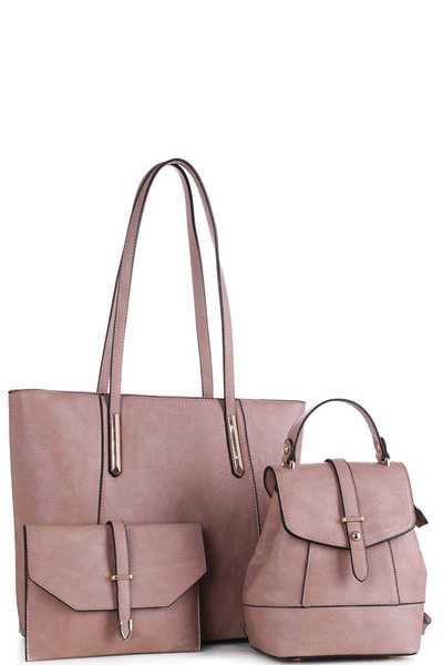 3IN1 DESIGNER CHIC FASHION TOTE BAG SET