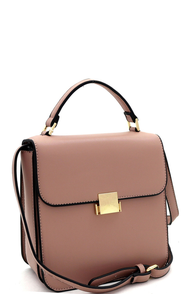 Pinch-Lock Accent 3-Compartment Retro Medium Satchel