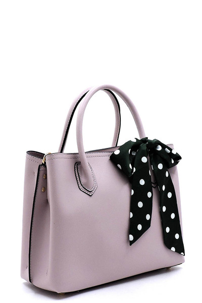 Polka Dot Scarf Multi Compartment Satchel