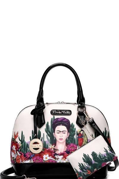 Authentic Frida Kahlo Cactus 2 in 1 Dome Satchel