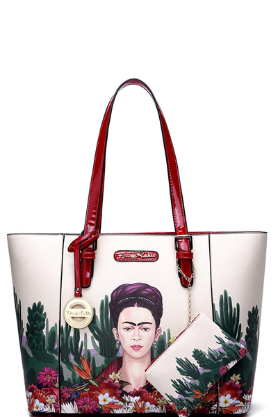 Authentic Frida Kahlo Cactus 2 in 1 Shopper Tote