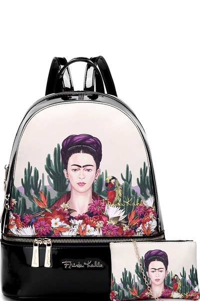 Authentic Frida Kahlo Cactus Series 2in1 Backpack