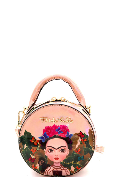 Authentic Cartoon Version Hologram Frida Kahlo Mini Shoulder Bag