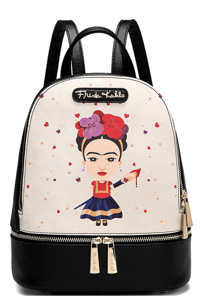 Authentic Frida Kahlo Front Pocket Backpack