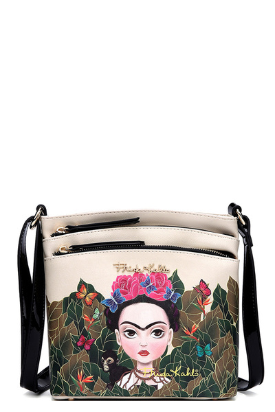 Authentic Frida Kahlo Multi Pocket Crossbody