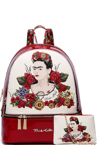 Authentic Frida Kahlo Flower 2 in 1 Fashion Backpack