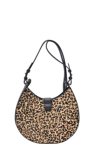 STYLISH LEOPARD FRONT CROSSBODY BAG