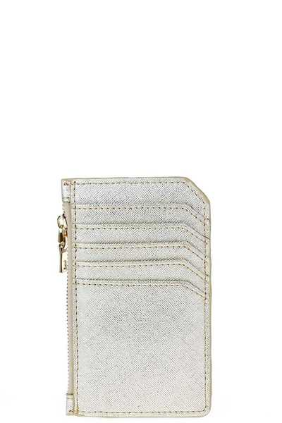 FASHION MULTI POCKET SAFFIANO CARD CASE WITH WALLET