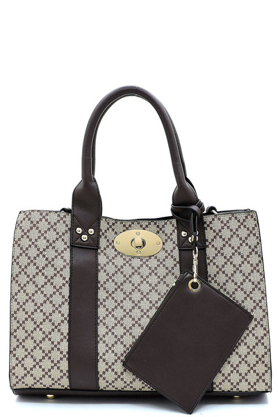 Diamond Check 3-in-1 Box Satchel Crossbody Set