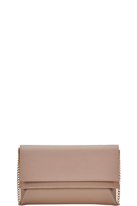 DESIGNER TRENDY DOUBLE FLAP CLUTCH WITH CHAIN