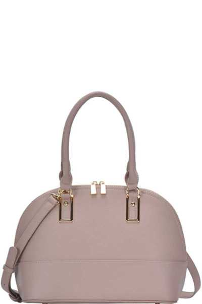 STYLISH MODERN DOMED SATCHEL WITH LONG STRAP