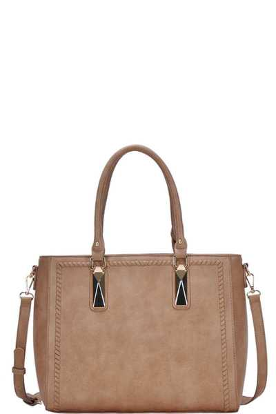 FASHION CHIC SOLID TOTE BAG WITH LONG STRAP