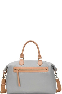 FASHION CHIC LIGHT WEIGHT CANVAS SATCHEL WITH LONG STRAP