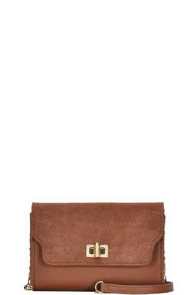 CHIC DESIGNER LEATHER GRIM CROSSBODY CLUTCH BAG