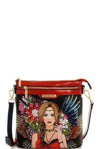 NICOLE LEE GYPSY GIRL CROSSBODY BAG