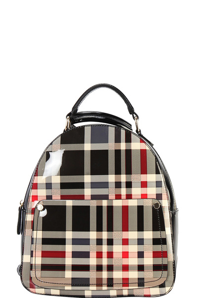 DESIGNER CHECKERED BACKPACK