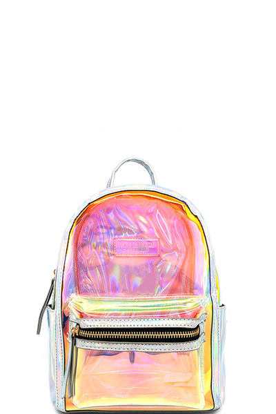 2in1 Trendy Hologram Tint Cute Backpack